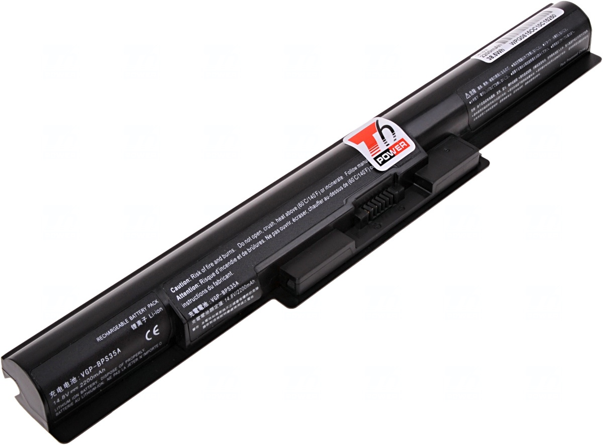 Baterie T6 power Sony Vaio Fit 14E, Fit 15E, SVF1421, SVF14211, SVF1521, SVF15211, 4cell, 2600mAh