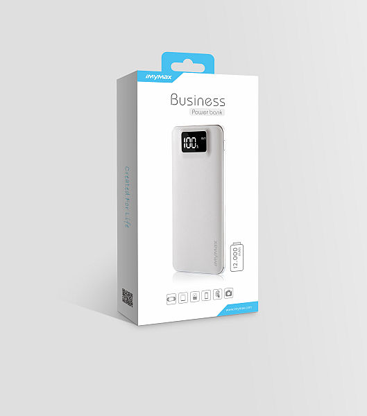iMyMax Business Power Bank 12.000mAh, Black
