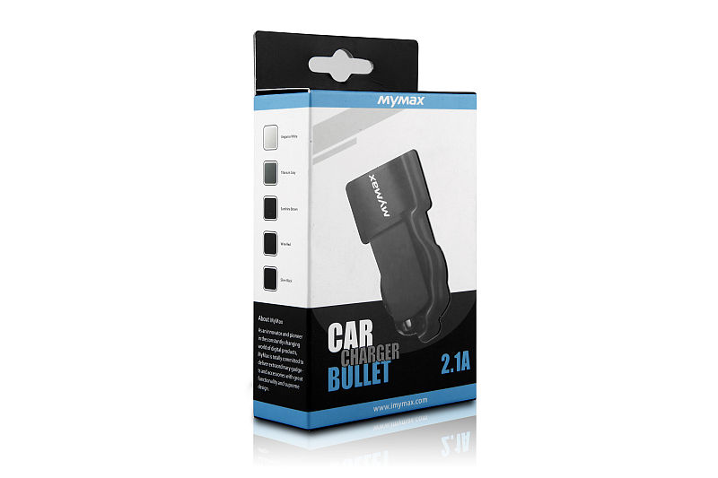 iMyMax Bullet Car Charger 2,1A, White