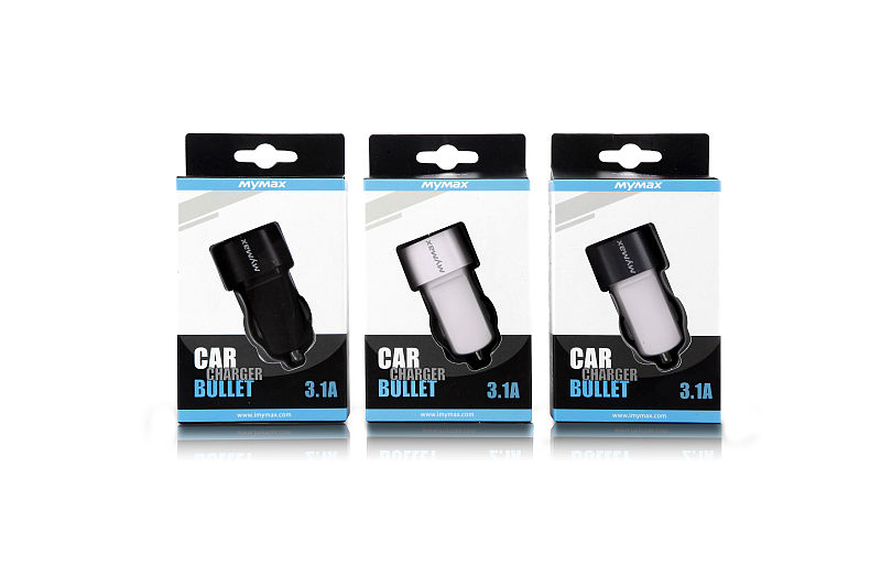 iMyMax Bullet Car Charger 3,1A, White