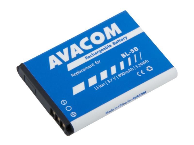Baterie AVACOM GSNO-BL5B-S890 do mobilu Nokia 3220, 6070, Li-Ion 3,7V 890mAh (náhrada BL-5B)