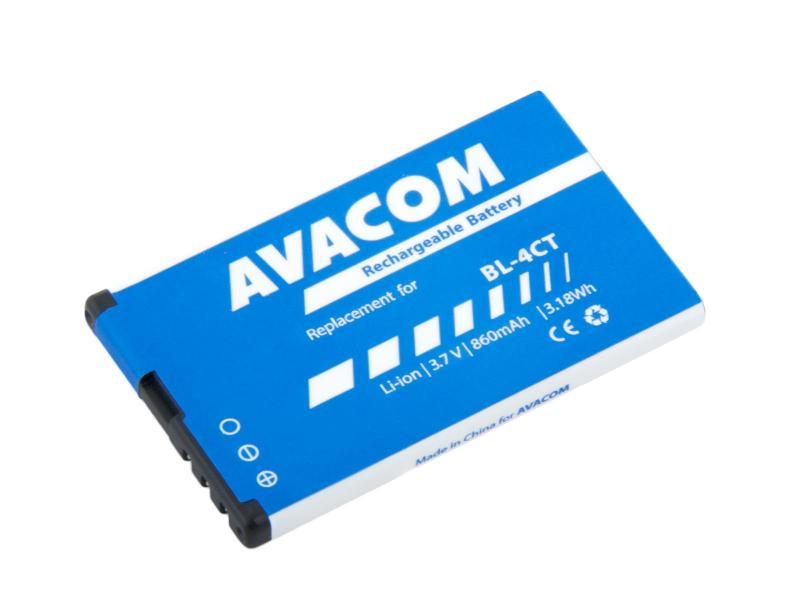 Baterie AVACOM GSNO-BL4CT-S860 do mobilu Nokia 5310 XpressMusic Li-Ion 3,7V 860mAh (náhrada BL-4CT)