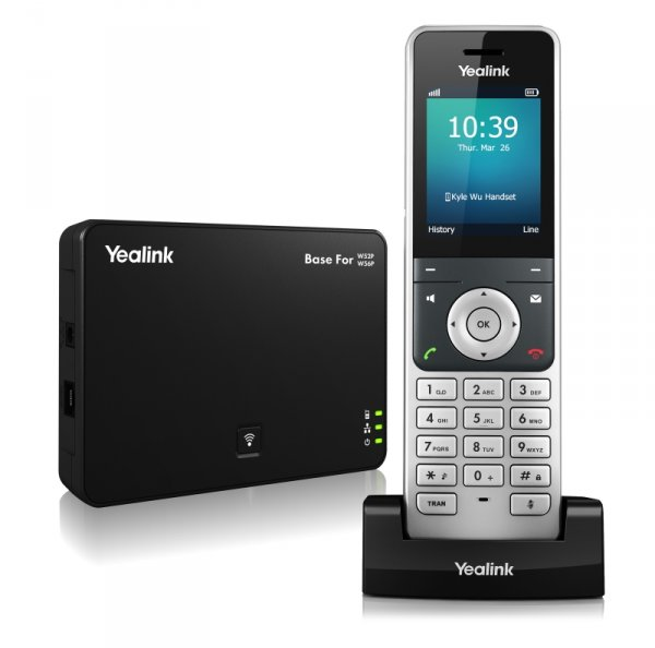 "Yealink W56P IP DECT báze+ručka, PoE, 2,4"" bar.dis"