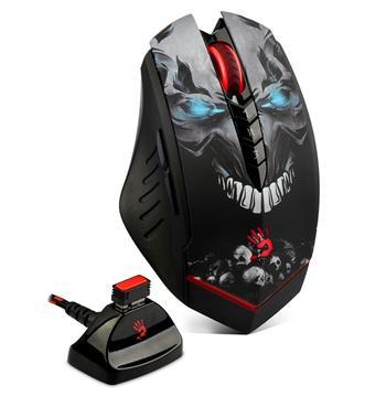 A4tech BLOODY R80, bezdrátová herní myš, rozlišení až 3200DPI, černá, USB, CORE 2