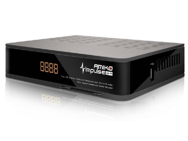 AMIKO DVB-S2 HD přijímač Impulse wifi/ Full HD/ MPEG2/ MPEG4/ HDMI/ USB/ PVR/ SCART/ Wi-Fi