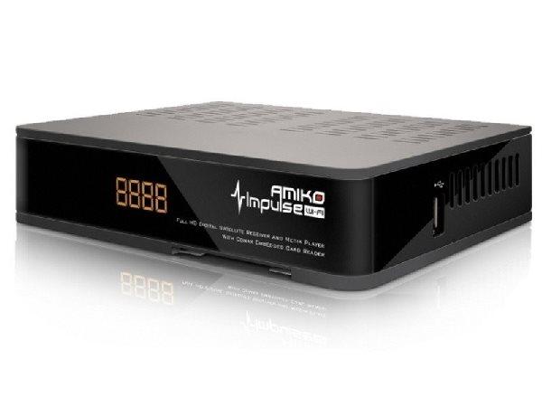 AMIKO DVB-S2 HD přijímač Impulse wifi/ Full HD/ MPEG2/ MPEG4/ HDMI/ USB/ PVR/ SCART/ Wi-Fi