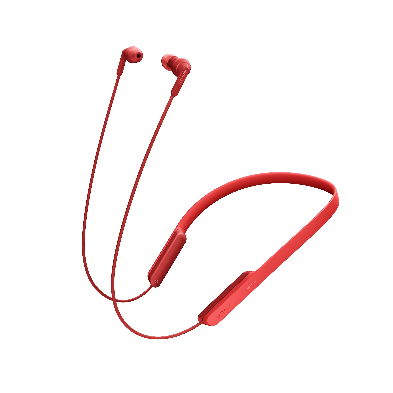 SONY MDR-XB70BT Bezdrátová sluchátka s pohodlným nošením za krkem - Red