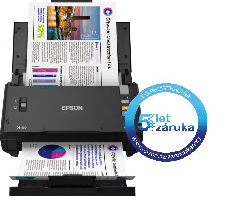 Epson WorkForce DS-520, A4, 600 DPI, USB