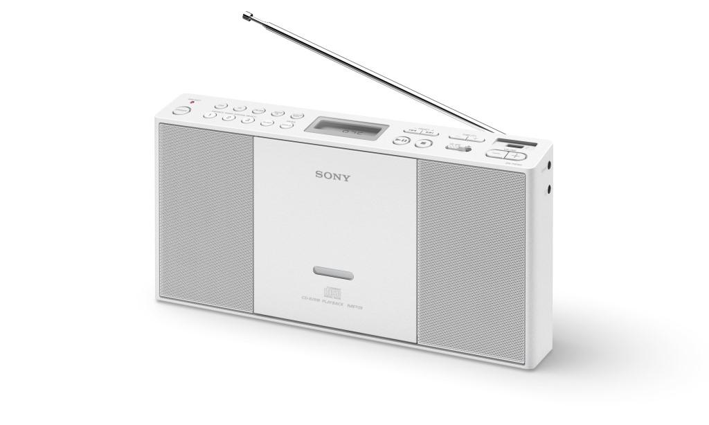 SONY ZS-PE60 Radiomagnetofon s CD, USB a digitálním FM tunerem - bílá