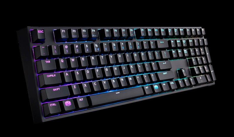 Cooler Master herní mechanická klávesnice Masterkeys Pro L, Cherry MX Red, backlight, USB, ENG