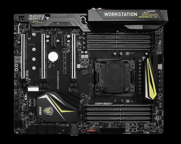MSI MB Sc LGA2011-3, X99A WORKSTATION, Intel X99, 8xDDR4, SATA3, USB3.1, GbLAN, ATX
