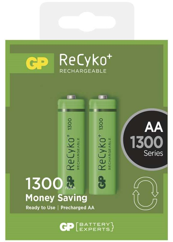 GP AA ReCyko+ 1300 series, nabíjecí, 2 ks