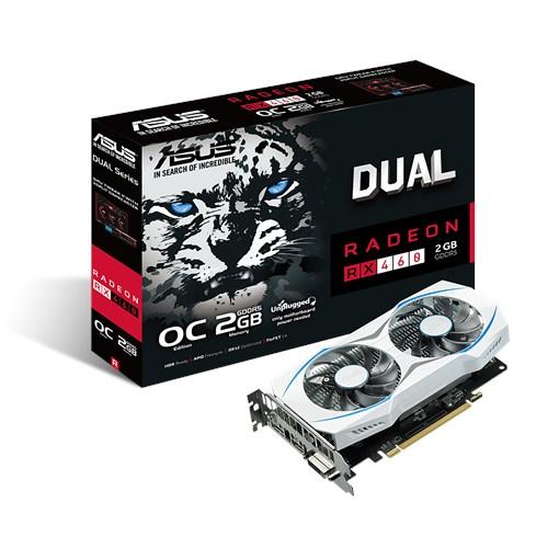 ASUS DUAL-RX460-O2G - 2GB GDDR5 (128 bit), HDMI, DVI, DP, 1224 MHz