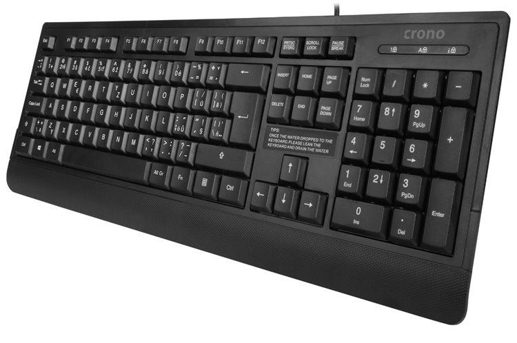 Crono CK2114 - klávesnice, CZ/SK, USB, černá