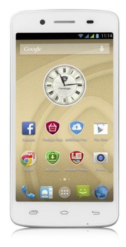 "PRESTIGIO MultiPhone 5507 DUO, 5""HD IPS, Dual SIM, Android 4.4, Quad Core 1,2GHz, 8GB ROM, 1GB RAM, MicroSD slot, bílý"