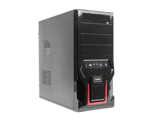 Gembird case CCC-D1-03 Midi Tower ATX without power supply, black
