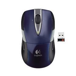 myš Logitech Wireless Mouse M525 nano, modrá