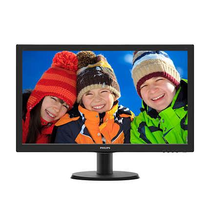 "Philips LCD 243V5QHABA/00 23,6""wide/1920x1080/8ms/10mil:1/VGA/DVI/HDMI/LED/repro"