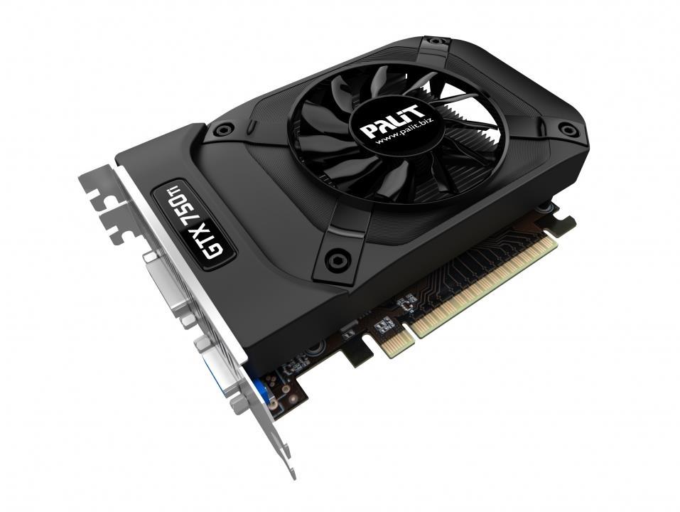 PALIT GeForce GTX 750 Ti StormX OC, 1GB GDDR5 (128 Bit), miniHDMI, DVI, D-Sub