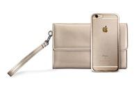 Puro METAL DUO - zadní kryt + psaníčko pro iPhone 6s, zlatá
