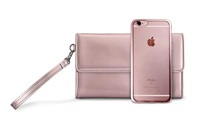 Puro METAL DUO - zadní kryt + psaníčko pro iPhone 6s, růžové zlato