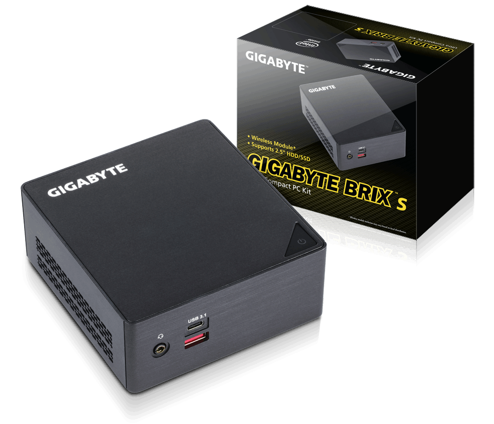 Gigabyte BRIX GB-BSi7HA-6500, i7-6500U, 2.5/3.1GHz, DDR4-2133, HDMI, miniDP