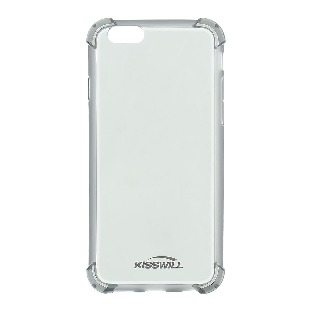 Kisswill Shock TPU Pouzdro Grey pro iPhone 6/6S