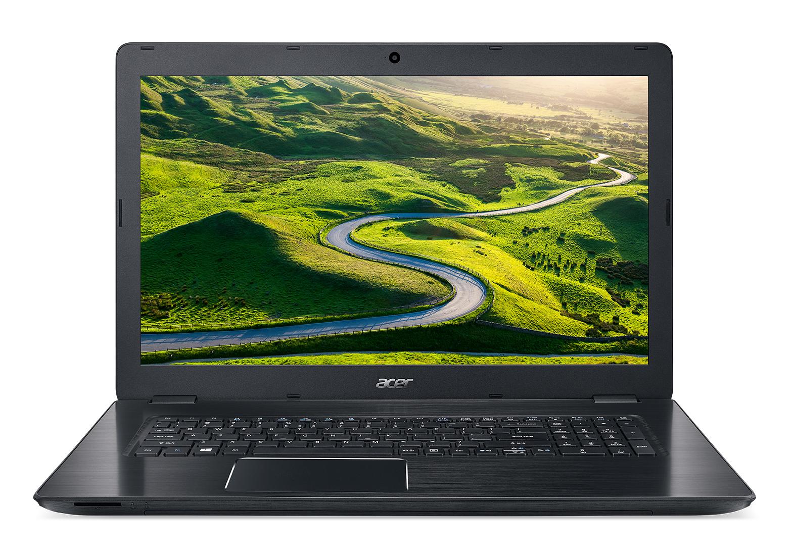 """Acer Aspire F17 (F5-771G-78X0) i7-7500U/8GB+N/256GB SSD M.2+1TB/DVDRW/GeForce GTX 950M 4G/17.3"""" FHD matný/BT/W10 Home/Black"""