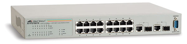 Allied Telesis 16x10/100 smart+2SFP AT-FS750/16