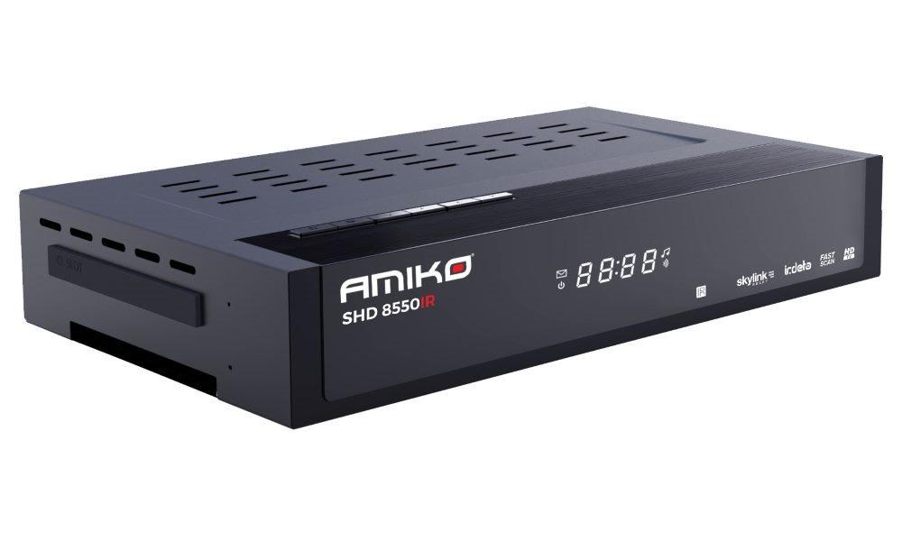 AMIKO DVB-S2 přijímač SHD 8550 IR/ Full HD/ Skylink ready/ Irdeto/ MPEG2/ MPEG4/ PVR/ HDMI/ USB/ LAN