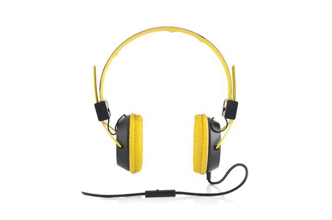 Modecom MC-400 CIRCUIT sluchátka s mikrofonem, žlutá