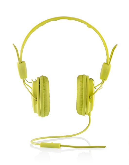 Modecom sluchátka MC-400 FRUITY GREEN mikrofon a ovládání hlasitosti na kabelu