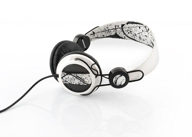 Modecom MC-400 FUNKY sluchátka s mikrofonem, černobílá