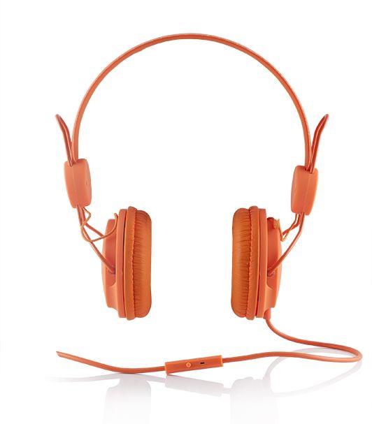 Modecom MC-400 FRUITY sluchátka s mikrofonem, oranžová