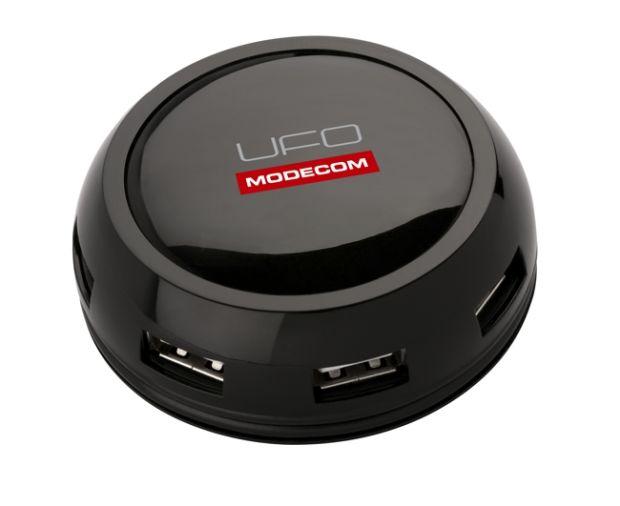 Modecom HUB-UFO USB 2.0 externí HUB, 7port, aktivní, napájecí adaptér, černý