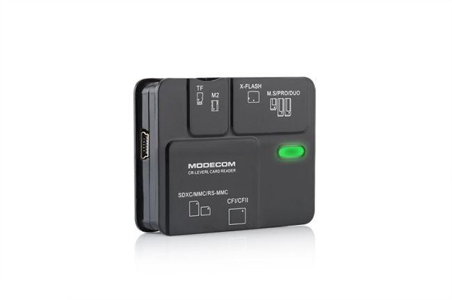 Modecom CR-LEVEL 2 externí čtečka paměťových karet, USB 2.0, SDXC/SDHC/SD/miniSD, černá