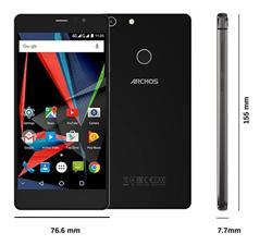 """ARCHOS Diamond Selfie, 5.5""""1920x1080 IPS,1.4GHz 8C,4GB/64GB,Android 6,16+8mpx,LTE,ctecka otisku,SD,DualSIM,3000mAh,černý"""