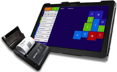 Tablet s windows 10 a paragonová BT tiskárna+ pokladní SW