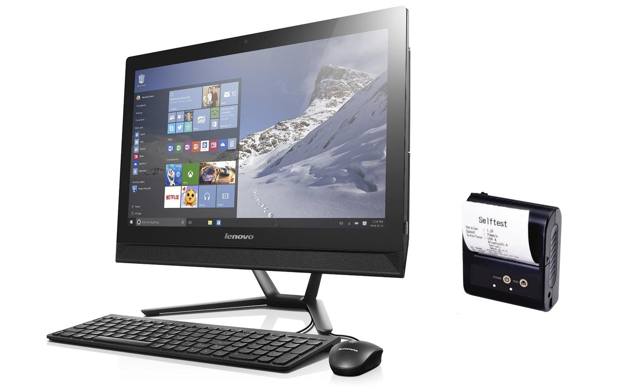 Počítač s dotykovým monitorem a tiskárnou+ pokladní SW