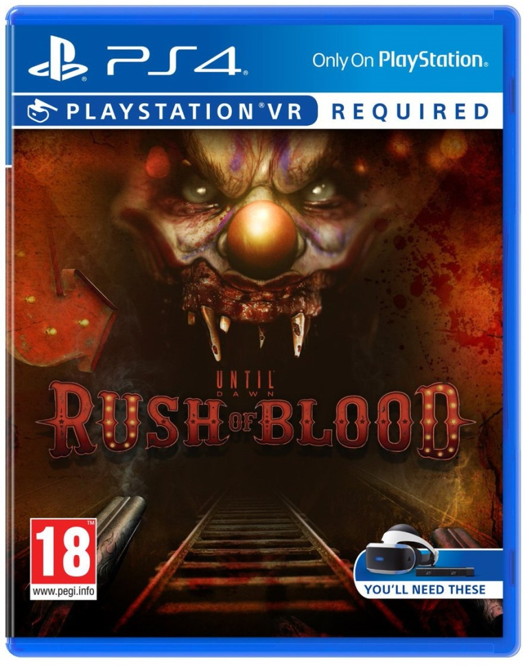SONY PS4 hra Until Dawn Rush of Blood VR
