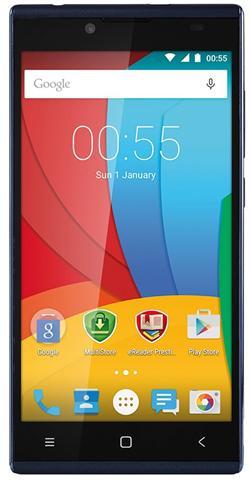 """PRESTIGIO Muze A5, 5.0"""" HD IPS, Dual SIM, Android 5.1, Quad Core 1,2GHz, 1280*720, 8GB ROM,1GB RAM, 8+2Mpx, tmavě modrý"""