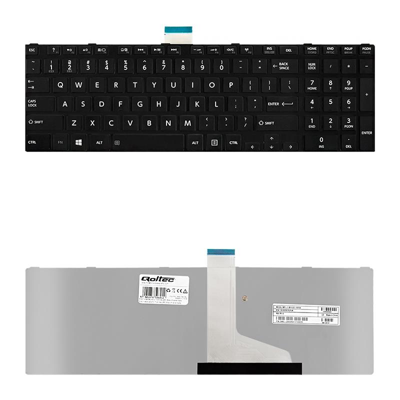 Qoltec Notebook Keyboard for Toshiba L850 Black Frame Matte