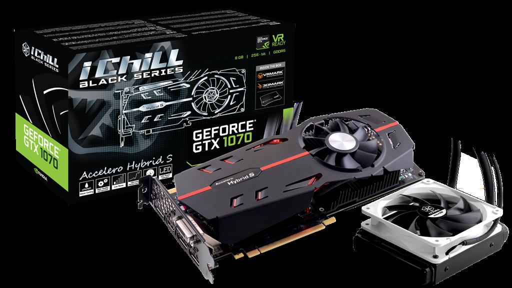 Inno3D iChill GeForce GTX 1070 Black, 8GB GDDR5 (256 Bit), HDMI, DVI, 3xDP