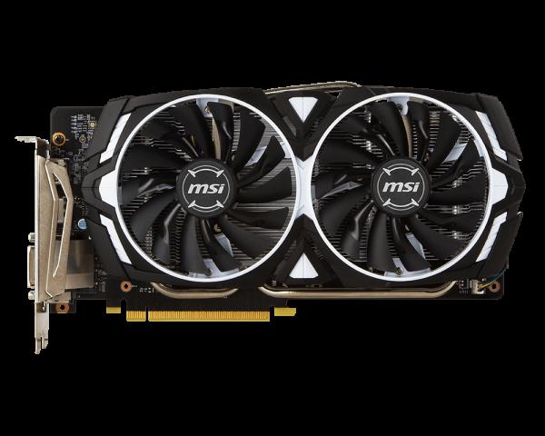 MSI GTX 1060 ARMOR 6G OCV1, 6GB GDDR5, PCIe x16 3.0, 192bit, DVI-D, 2xHDMI, 2xDP