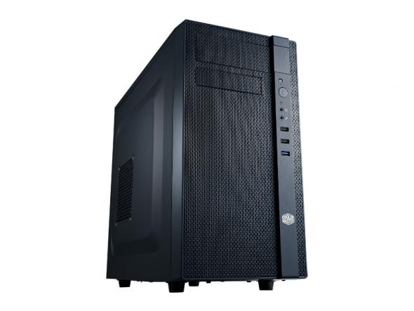 Cooler Master skříň minitower N200, mATX, USB3.0, bez zdroje, průhledná bočnice, black