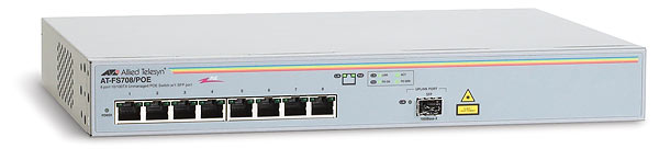 Allied Telesis 8x10/100+1SFP switch AT-FS708/POE