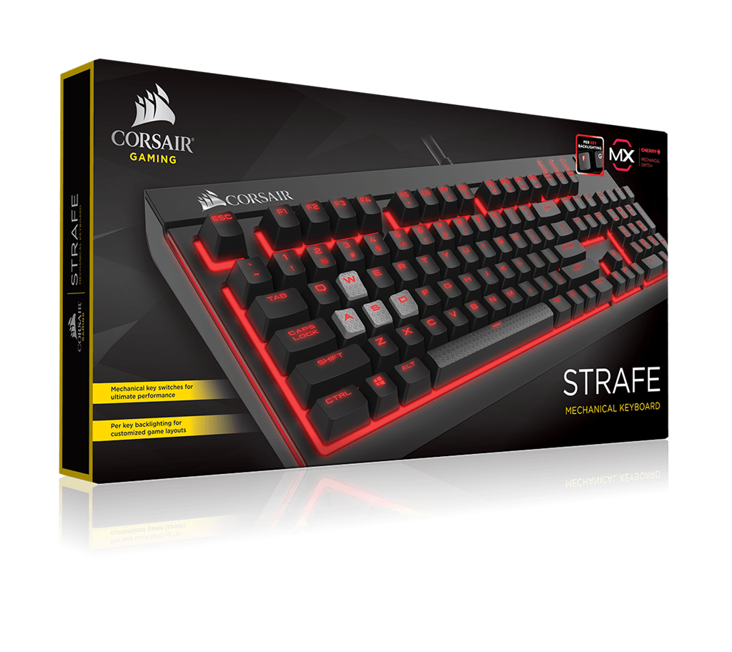 Corsair STRAFE Mechanical Gaming Keyboard - Cherry MX Brown