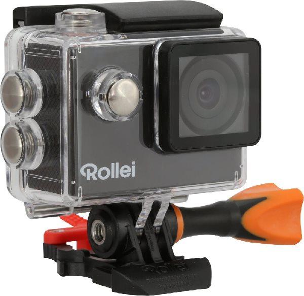 Rollei ActionCam 425 - 4K video 25 fps/ 1080/30 fps/ 170°/ 40m pzd./ Dál.ovl/ Wi-Fi/ Černá/ CZ + SK menu + náhradní baterie + 16GB
