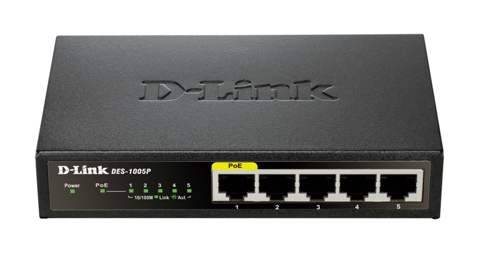 D-Link DES-1005P 5-Port Fast Ethernet PoE Desktop Switch