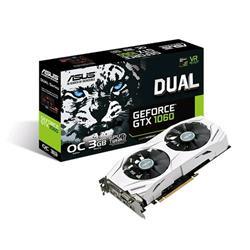 ASUS DUAL-GTX1060-O3G 3GB/192-bit, GDDR5, DVI, 2xHDMI, 2xDP